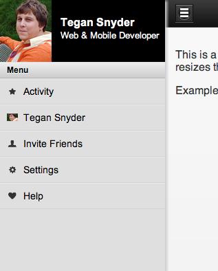 Mobile Slide Menu like Facebook